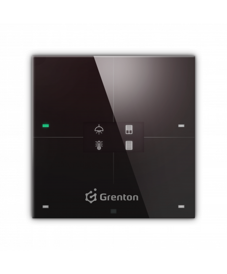 GRENTON SMART PANEL 4B, OLED, TF-Bus, schwarz