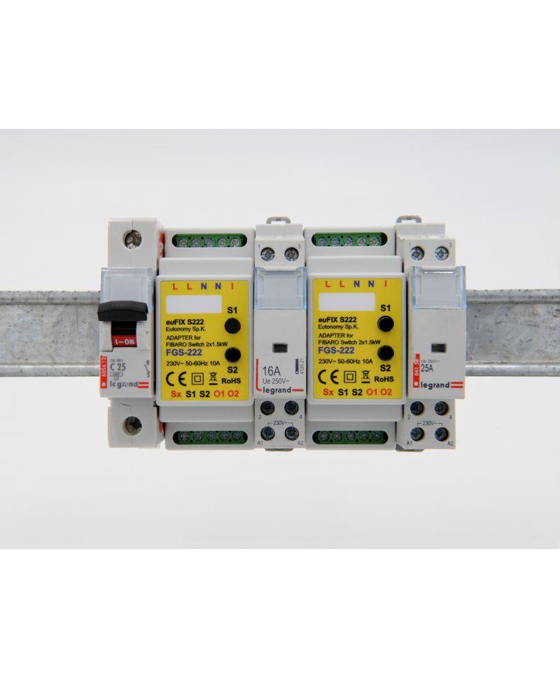 FIBARO Double Switch 2 FGS-223 Montage auf der Hutschiene mit euFIX S223