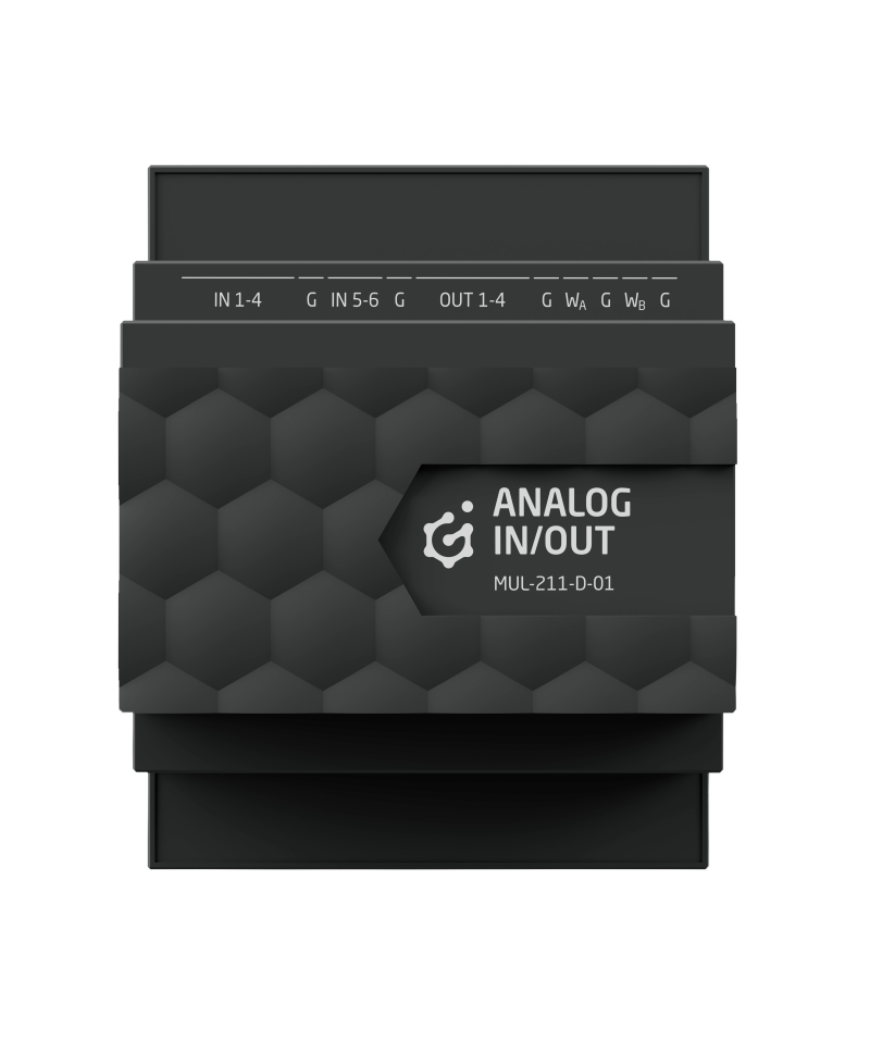 GRENTON ANALOG V.2 ANALOG IN/OUT, DIN, TF-Bus, 1-wire / MUL-211-D-01