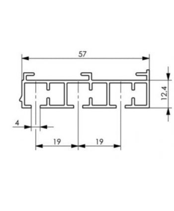 Mio Decor Aluminiumgardinenstange Imago für die Deckenmontage, 3-läufig