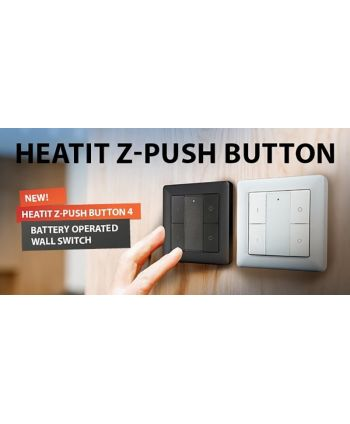Heatit Z-Push Button 4 schwarz