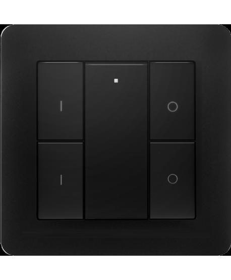 Heatit Z-Push Button 4 schwarz