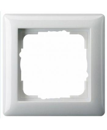 GIRA Abdeckrahmen Standard 55 Reinweiß glänzend 1-fach