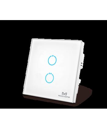 MCO Home Touch Panel Switch 2 Tasten Weiß