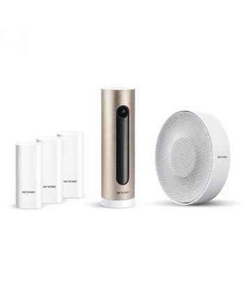 Netatmo Smarte Innenkamera + Smarte Tür- und Fenstersensoren + Smarte Innen-Sirene Bundle