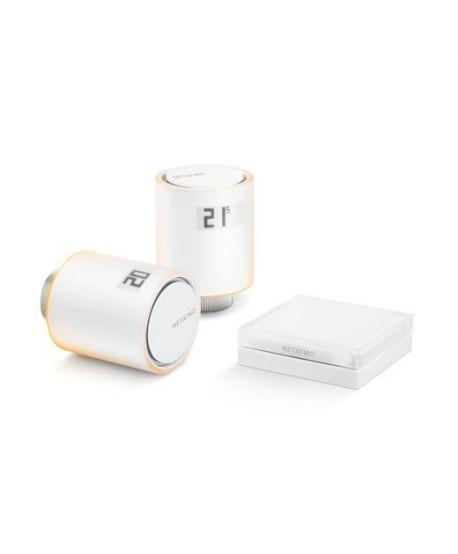Netatmo Smarte Heizkörperthermostate - Starter-Pack mit 2 Thermostaten, inkl. Relais