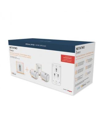 Netatmo Smartes Zentrales Thermostat + 3x Heizkörperthermostate Bundle