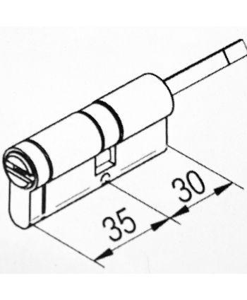 Danalock SALTO DCE3 - Euro Schließzylinder für V3 Türschloss 35 / 30-50