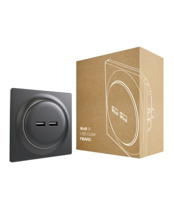 FIBARO Walli N USB Outlet FGWU-021-8 anthracite