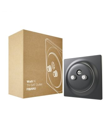 FIBARO Walli N TV-SAT Outlet FGWTFEU-021-8 anthracite