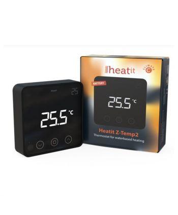 Heatit Z-Temp2 Thermostat - Batterie schwarz