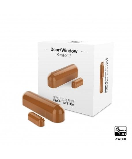 FIBARO Door-/Window Sensor 2 Hellbraun FGDW-002-5