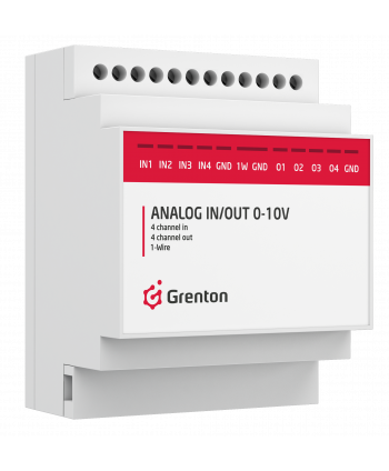 GRENTON ANALOG IN/OUT 0-10 V, DIN, TF-Bus / MUL-046-T-17