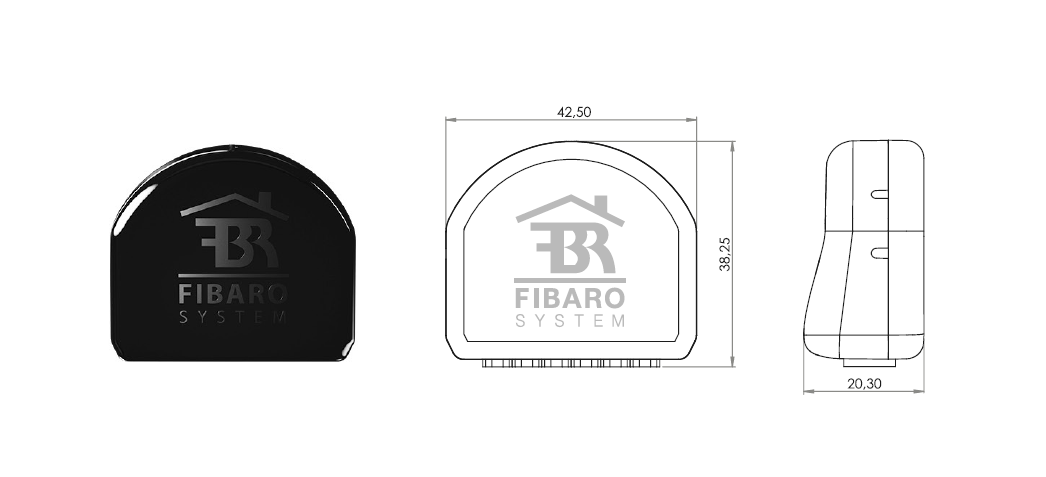 FIBARO Roller Shutter 3 - Size